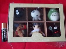 """NEW! """"GENUINE"""" GHIBLI COLLECTION 6 SOFT TOY FIGURE MASCOTS SET 1.5"""" 4cm / UK DSP"""