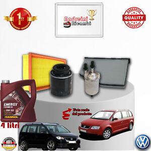 KIT TAGLIANDO FILTRI + OLIO VW TOURAN 1.4 TSI 103KW 140CV DAL 2006 -> 2010