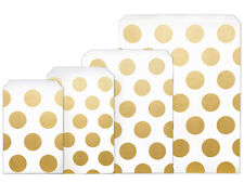 600 Paper Resale Merchandise Bags Sacks Large Gold Circle Dots Holiday Weddings