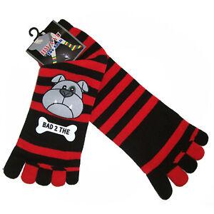 TSK03 Love Bugs Plastic-Printed Cozy Striped Toe Socks Sz 9-11 Perfect Gift