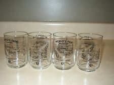 World's Fair San Antonio vintage 1968 glasses X 4