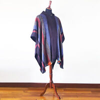 BABY ALPACA WOOL CAPE PONCHO WRAP SHAWL COAT HANDMADE IN ECUADOR