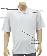 CATHEDRAL Polo Mens V Neck White Squash Badminton Polyester Cotton Top 2020