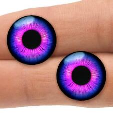 18mm Purple Pink Doll Eyes Glass Taxidermy Eyeballs Craft Cabochon Supplies