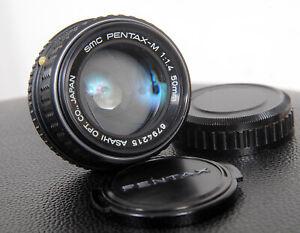 *READ* SMC PENTAX-M 50mm Fast  f1.4 Vintage PK mount Manual Focus 35mm Lens
