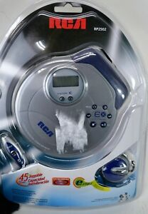 RCA Joggable Personal RP2502 Silver Portable CD Player NEW   (A2)
