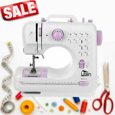 Full Size Electric Sewing Stitch Machine Mini Household 2 Speed Foot Pedal w/LED