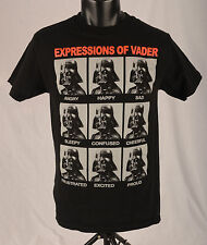 Star Wars Chlds T Shirt Sz S/C Expressions of Vader Black White Red Funny