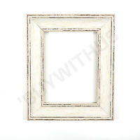 Shabby Chic Picture frame,photo frame poster frame Vintage White Distressed Matt