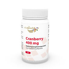 Vita World Cranberry 400mg 60 Kapseln Cranberrypulver Cranberrie Made in Germany
