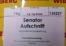 Wiberg Senator Aufschnitt 1 kg, Gewürz, Gewürze, Aufschnitt, Brühwurst