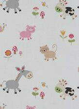 ERISMANN CHILDRENS NURSERY ANIMAL CAT DOG KIDS QUALITY FEATURE WALLPAPER 7348-17