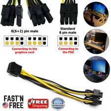 10 Pack PCIE 8 pin Female to Dual PCI-E 8(6+2)pin Male GPU Power Cable Splitter