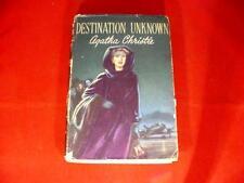 Destination Unknown Agatha Christie Hardback Book w/ DJ 1955 Vintage Detective