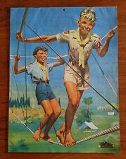 Calendrier 1955 SCOUT DE FRANCE couverture illustrée par JOUBERT