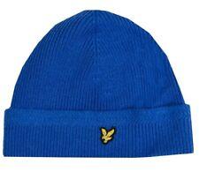 BNWT Lyle & Scott Racked Rib Beanie Hat Duke Blue One Size RRP £30 and HE305CL