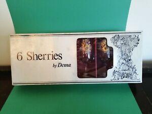 Dema Sherry Glasses X6