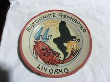 RISTORANTE GENNARINO LIVORNO 1978 Piatto Buon Ricordo Ceramica