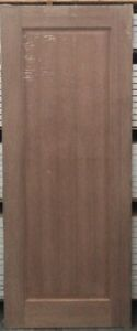 External/Internal 1 Panel Solid Meranti Timber Door