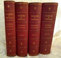 1912- 1st Ed. MAKERS OF AMERICA-GEORGIA EDITION Volumes I,II,III,IV (Set of 4)