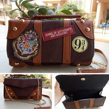 UK Harry Potter Wallet Messenge Bag PU School Badge Crossbody Clutch Purse Gift