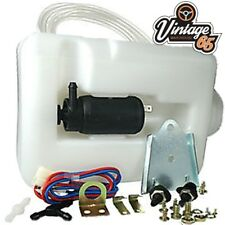 Classic Austin Mini Universal 12v Windscreen Washer Bottle Motor Pump Jets Kit