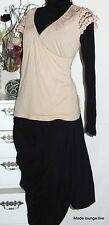NOA NOA blusa de la tapa PERLA Camiseta L 40 KISS Rosa Cuentas Modal blusa