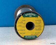 Nichrome wire 0.05mm 44 AWG 574 Ώ/m/175 Ώ/Ft 267gr NIKROTHAL 80 KANTHAL RARE