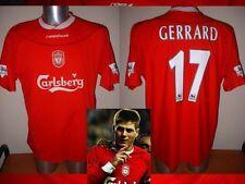 Liverpool Gerrard Fútbol Fútbol Jersey Camisa Reebok XL Trikot Maglia top Raro