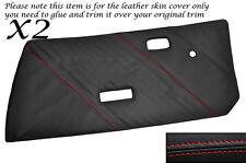 RED Stitch 2x Porta Carte CUOIO PELLE copre gli accoppiamenti FIAT X1 / 9 X19 73-89