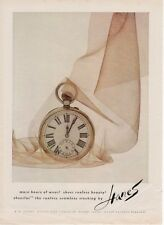 1962 Hanes Stockings Pocket Watch in Nylon PRINT AD