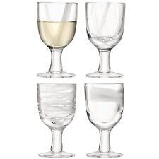 LSA Cirro Wine Glass 300ml - White - Set of 4