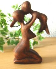 Figura Abstracta * madre con niño * madera decoración soarholz h = 10,5 cm
