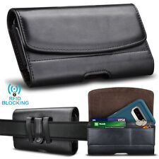 For Cell Phone Holster Leather Wallet Case Pouch with Card Holder Belt Clip Loop