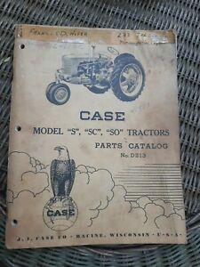 1948 J.I Case S SC SO tractor parts catalog manual book #D213 Covers Other Years