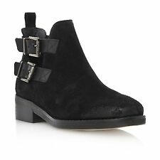 Dune Buckle Suede Upper Material Ankle Boots for Women