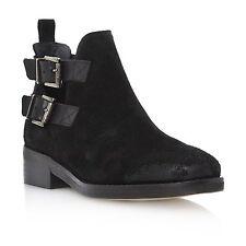 Buckle Block Heel Suede Standard Width (B) Boots for Women