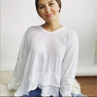NWOT Wilt Tiered Ruffle Knit Top Women's Size Medium