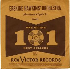 Erskine Hawkins RCA Victor 1951 Tippin' In/After Hours 45 + RARE PICTURE SLEEVE