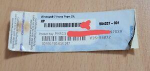 Microsoft Windows 7 Home Premium 64 Bit Full Version Product Key COA