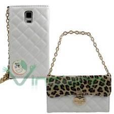 Custodia BORSA portafoglio BIANCA Tyche per Samsung Galaxy S5 G900F leopardata