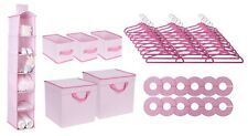 48 Piece Nursery Closet Organizer Baby Girl Clothes Accessories Storage Set New