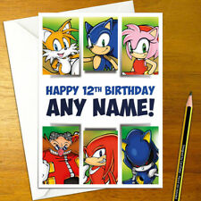 SONIC ADVENTURE Personalised Birthday Card - A5 sega amy tails knuckles robotnik