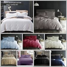 1000TC Egyptian Cotton Collection Doona Duvet Quilt Cover Set 9 Colours Quality