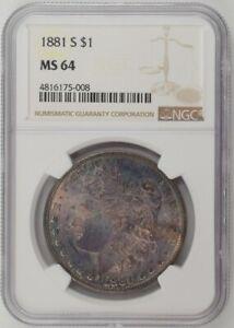 1881-S U.S. $1 - Morgan Silver Dollar - NGC MS64 (Toning!)