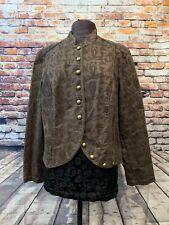 Venezia Brown Button Corduroy Jacket Blazer Women's Size 14/16
