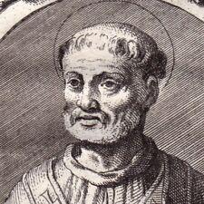 Portrait XVIIIe Saint Zéphyrin Evêque de Rome Papa Zefirino Geferino Severino