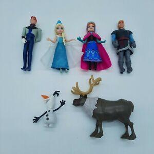 Mattel Disney Princess Anna Elsa & Prince Frozen Olaf Hans Figures Dolls Minis