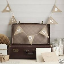 wedding vintage affair burlap hessian cards for post box bunting garland