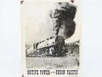 UP Motive Power of the Union Pacific by Kratville and Ranks ©1958 HC Book